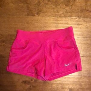 EUC Nike hot pink shorts with attached spandex